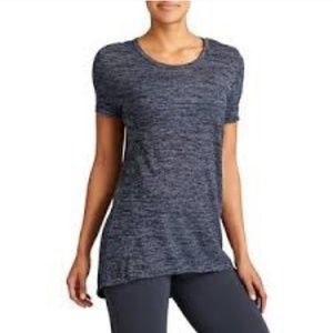 Athleta Soft Stripe Asana T-shirt Blue Top